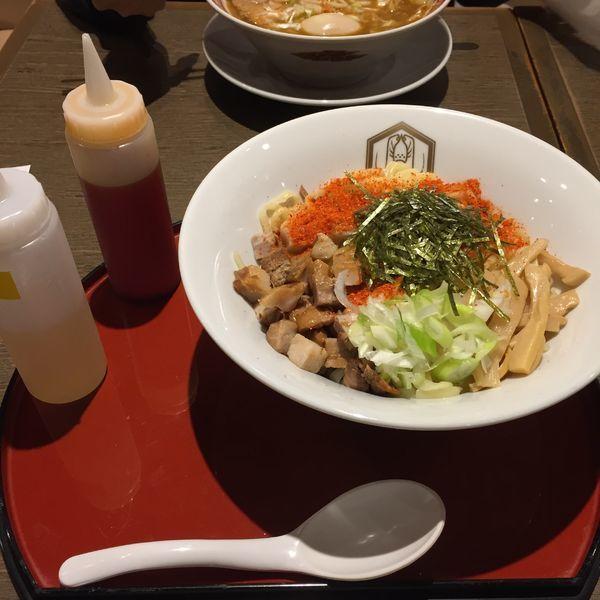 「油そば 特大  辛味」@えびそば えび助 TOKYOの写真