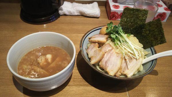 「特製つけ麺(煮干し)大盛」@鼈の写真
