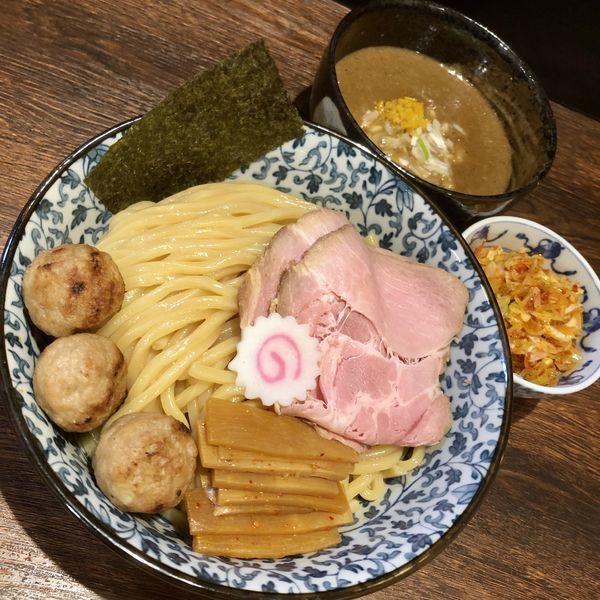 「つけ麺¥800+中盛¥50+辛ネギ¥150」@麺処はなぶさの写真