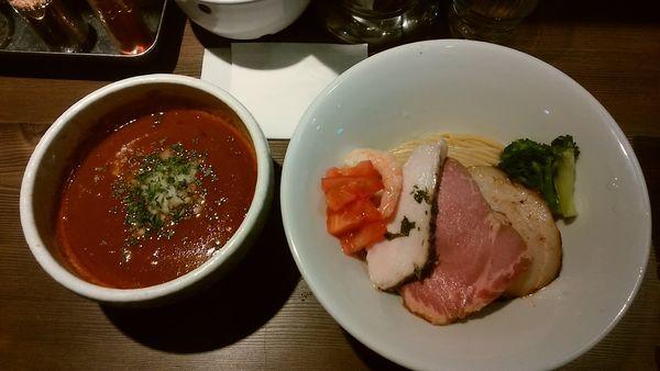 「海老トマトつけ麺(1000円)+チーズリゾット」@つけ麺 一燈の写真