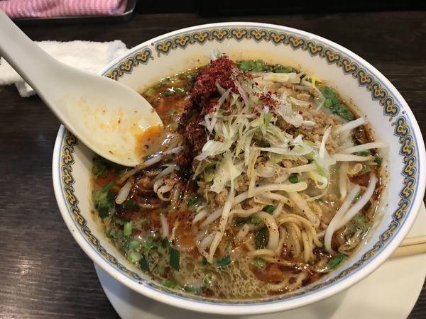 「汁あり担々麺大盛り1000円」@雲林坊 秋葉原店の写真