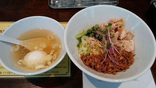 「【限定】油そば¥800-」@塩生姜らー麺専門店MANNISHの写真