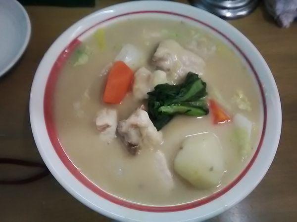 「追い炊き 南部赤鶏クリーム煮掛け」@MENYA 食い味の道有楽の写真
