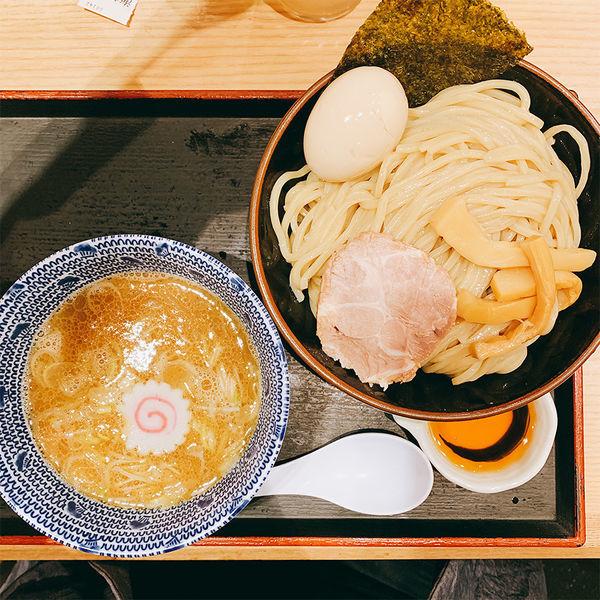 「海老つけめん 並盛+半熟味玉」@舎鈴 田町駅前店の写真
