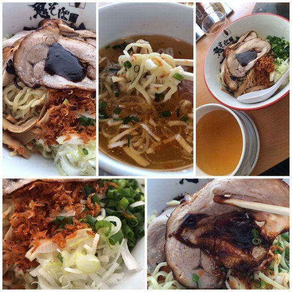 「【限定】海老塩オマールつけ麺900円」@鬼そば 藤谷の写真