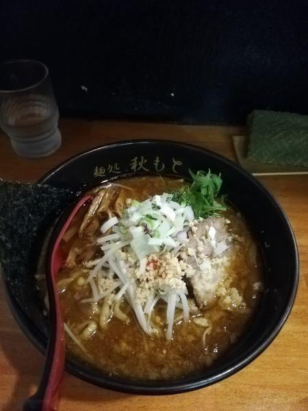 「味噌ラーメン(ヤクサバ節×鶏白湯)1100円」@麺処 秋もとの写真
