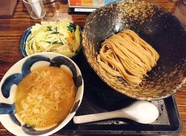 「たっぷり野菜つけ麺 並盛 細麺」@三ツ矢堂製麺 深谷花園店の写真