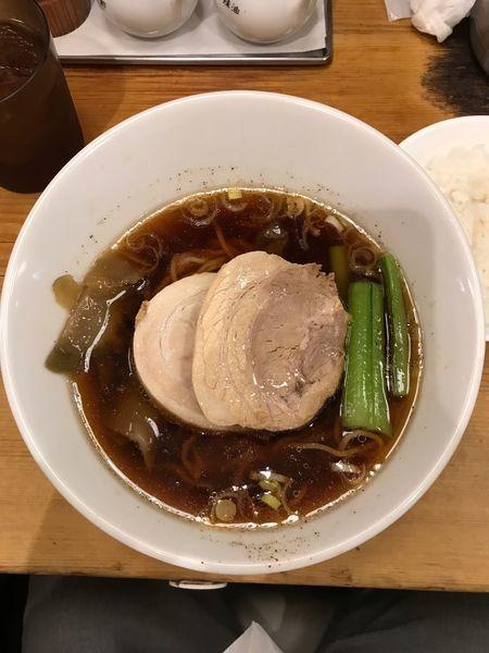 「太肉醤油麺 900円」@担々麺 ほおずきの写真
