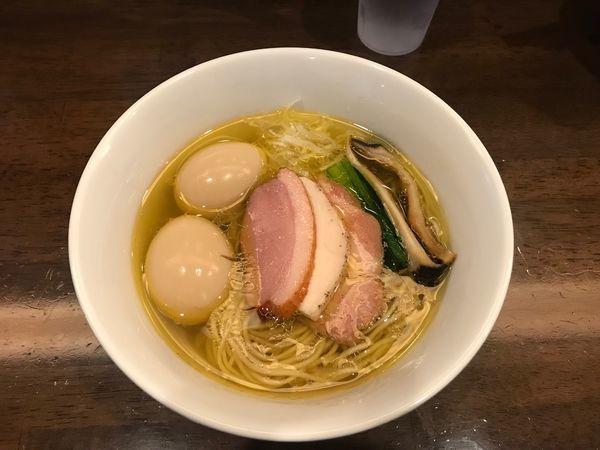 「特製芳醇中華そば 塩+味玉」@麺屋 龍壽の写真