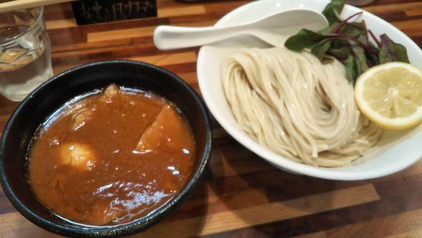 「オマール海老トマトつけ麺」@鮮魚らーめん 五ノ神水産の写真