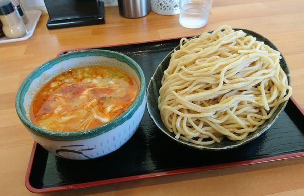 「月木曜日 煮干し味噌つけ麺大盛」@らーめん マル汁屋の写真