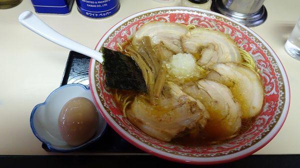 「バラチャーシューメン大(850円)+味玉(100円)」@タンタンの写真