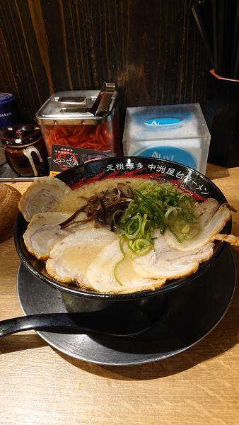 「チャーシューメン」@元祖博多 中州屋台ラーメン 一竜 池袋東口駅前店の写真