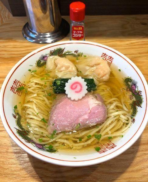 「山椒ラーメン¥800・海老ワンタン2個¥140」@キング製麺の写真