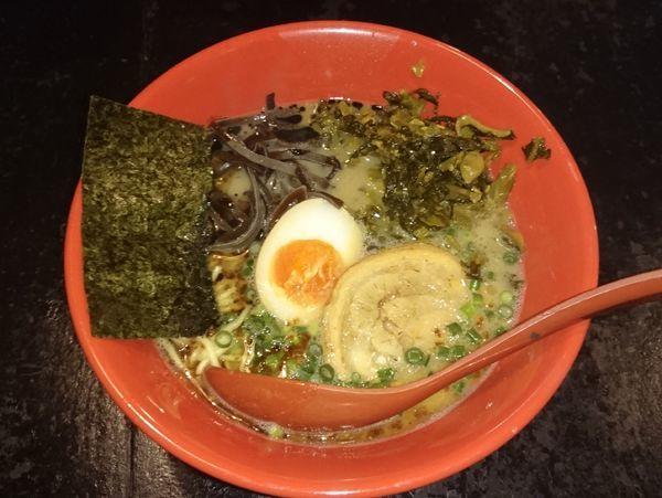 「熊本ラーメン 高菜」@熊本とんこつらーめん あそ路の写真