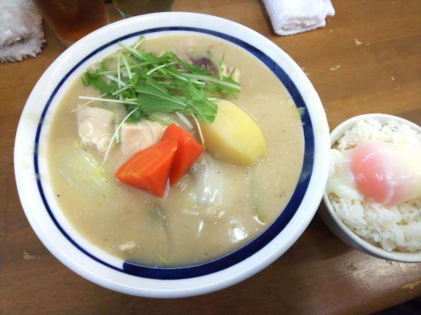 「【限定】追い炊き南部赤鶏クリーム煮掛けB 1500円」@MENYA 食い味の道有楽の写真