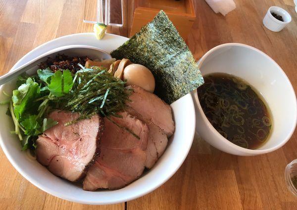「特選甲州地鶏つけそば 大盛り」@湖麺屋 Reel Cafeの写真