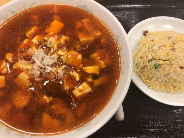 「マーボー豆腐麺セット780円×税=842円」@横浜大唐の写真