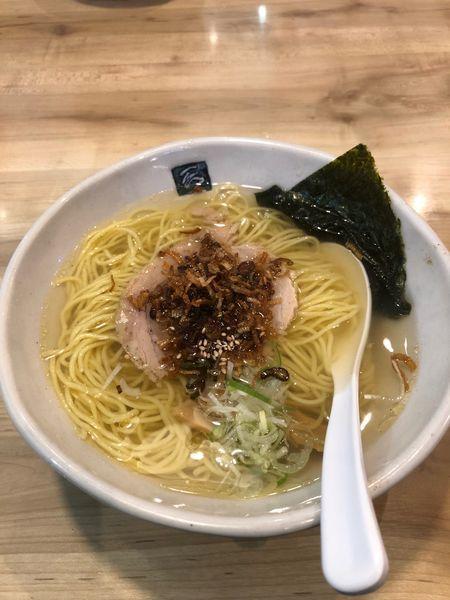 「黒揚げネギラーメン(塩)」@いちろくらーめん 福井駅前店の写真
