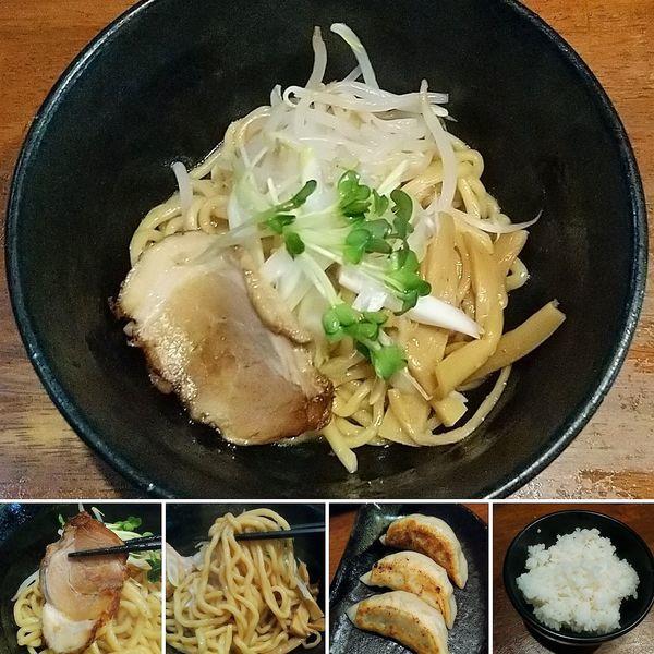 「油そば+餃子セット=950円」@麺屋 天王 二号店の写真