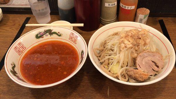 「つけ麺あつ盛り大300g、ヤサイ・ニンニク・アブラ」@眞久中の写真