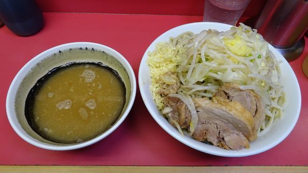 「小つけ麺(800円)ニンニク」@ラーメン二郎 桜台駅前店の写真