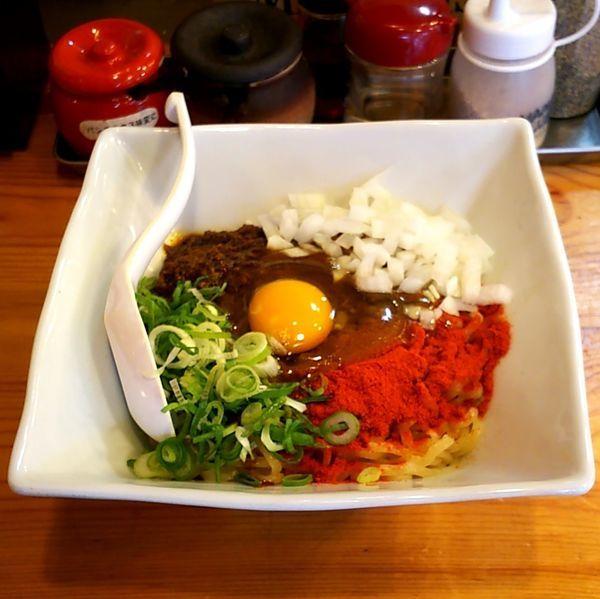 「ヤミツキ!汁なし辛麺(大盛)」@三代目 藤村商店の写真