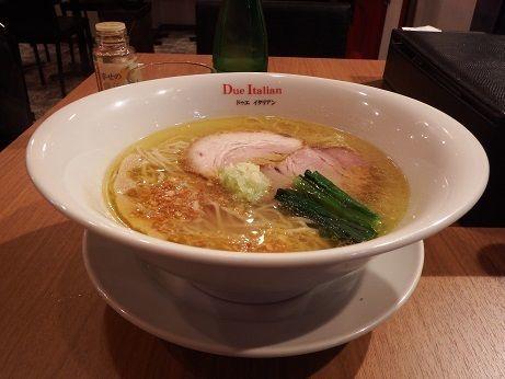 「塩らぁ麺」@黄金の塩らぁ麺 due Italian 横浜青葉台店の写真