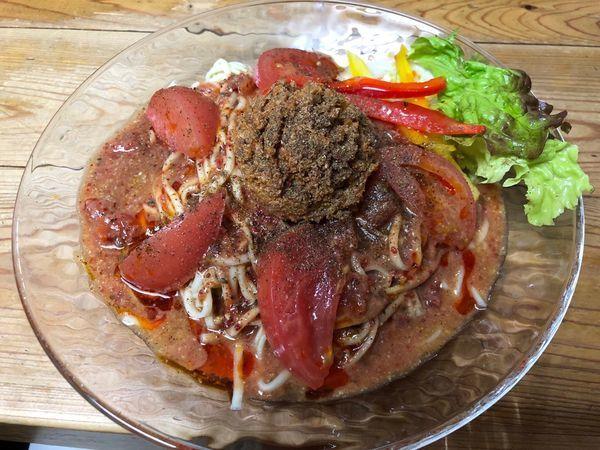 「【限定】冷やしトマト坦々麺」@自家製麺 てんかの写真
