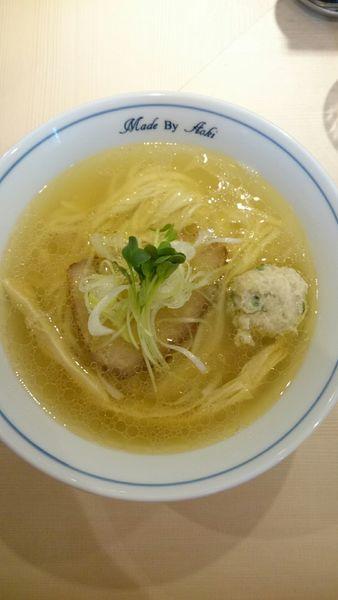 「白醤油らーめん(白)稲庭風  800円」@中華蕎麦 あお木の写真