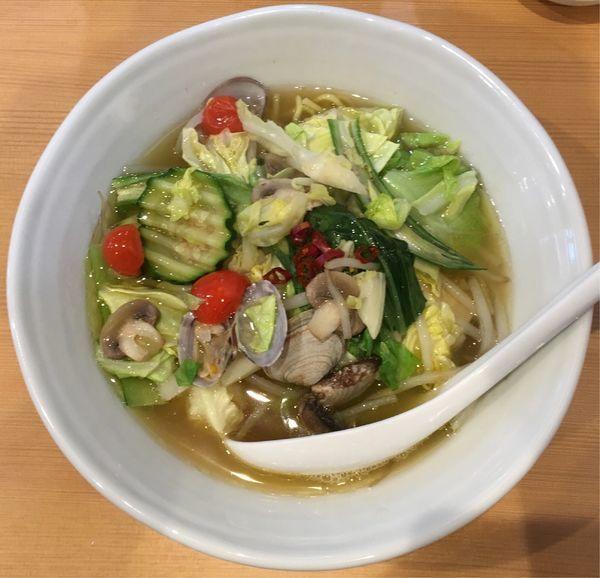 「[限定]彩り野菜とあさりのタンメン」@中華蕎麦 はるの写真