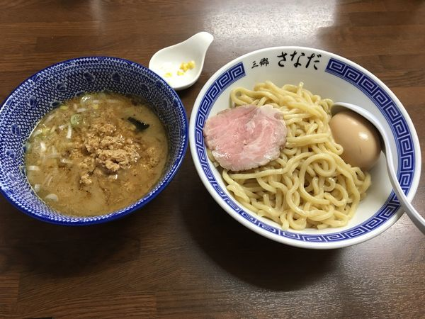 「特製つけ麺 あつ   ➕  冷やつけ」@つけめん さなだの写真