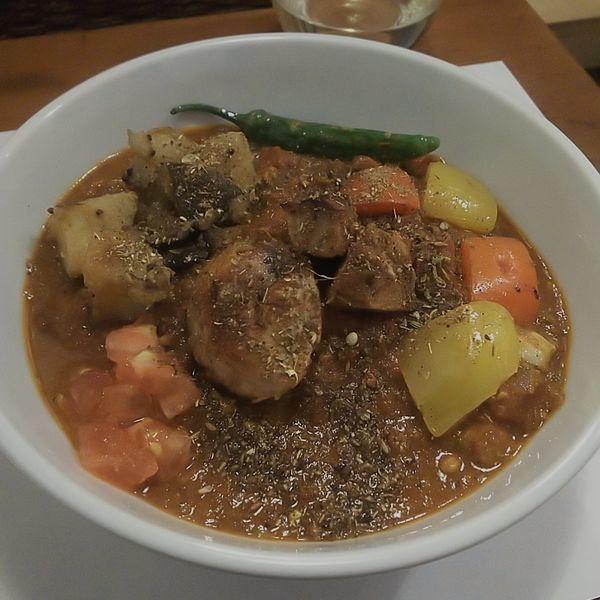 「鮪のマサラカリーラーメン(パクチー抜き)」@築地スパイス食堂 かぶとの写真