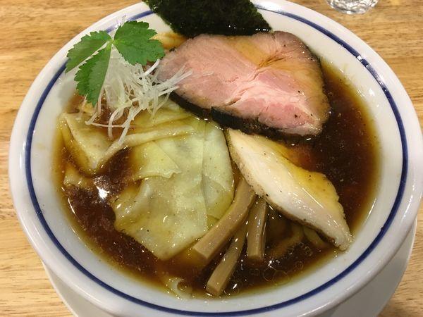 「ワンタン中華そば(醤油)」@手打式 超多加水麺 ののくらの写真