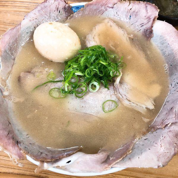 「チャーシュー(並) ¥700+煮たまご ¥100」@中華そば 紅蘭の写真