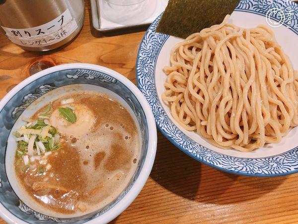 「濃厚つけ麺(胚芽麺)味玉」@道玄坂マンモスの写真