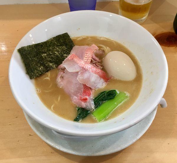 「濃厚金目鯛そば【限定】1100円+味玉」@麺屋BISQの写真