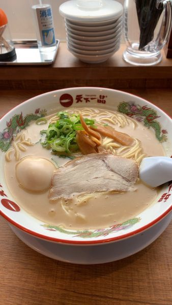 「煮卵ラーメン こってり」@天下一品 湯田温泉店の写真