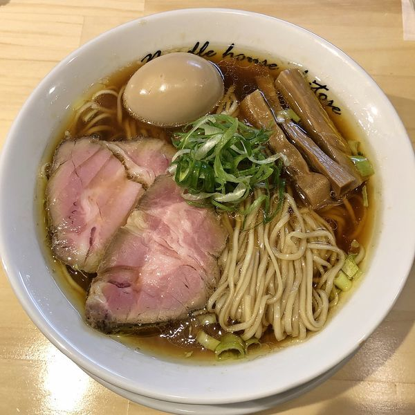 「醤油 煮玉子(中盛)¥920」@麺庵ちとせの写真