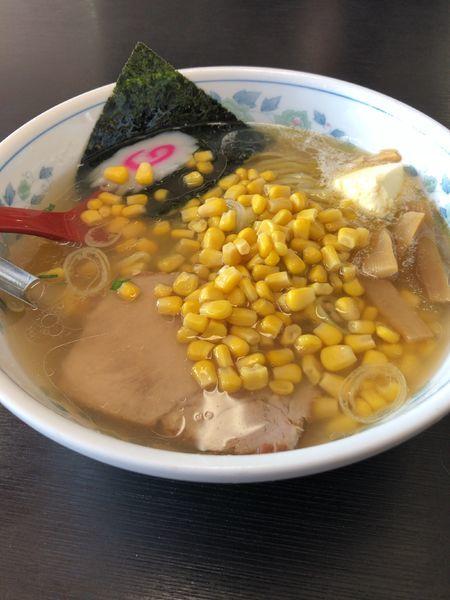 「塩バターコーン太麺」@北海ラーメン蝦夷の写真