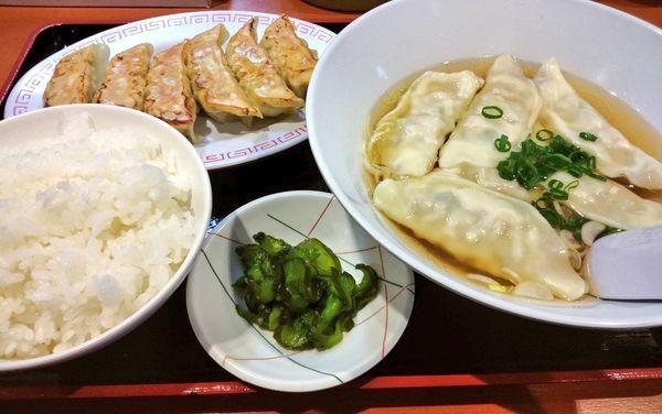 「焼餃子+スープ餃子+ライスセット」@宇都宮餃子館 西口駅前1号店の写真