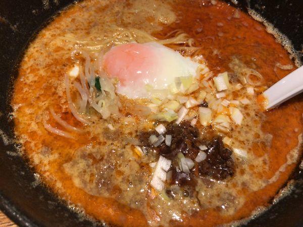 「玉子とじ担々麺850円」@萬珍軒の写真