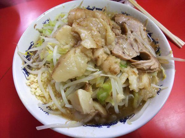 「小ラーメン 麺半分 ニンニクアブラ 750円」@ラーメン二郎 松戸駅前店の写真