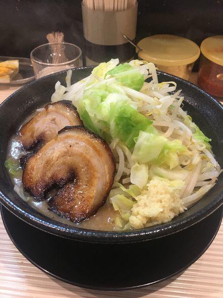 「カツオ(ショウガ、野菜増し)」@ラーメン ポール亭の写真