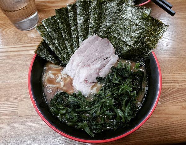 「のり ほうれん草ラーメン 850円」@麺家 紫極の写真