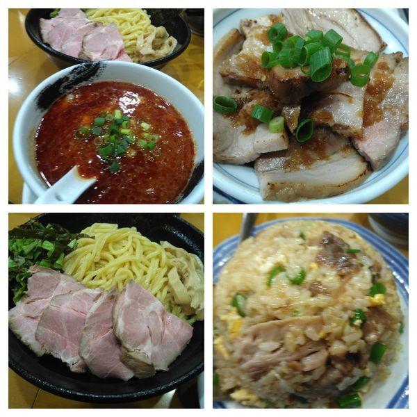 「【限定D】四川山椒辣油の濃厚つけ麺+大盛り+炒飯+焼豚丼」@麺屋 扇 SENの写真