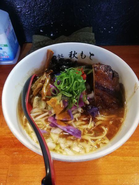 「四周年記念限定 白湯醤油 1600円」@麺処 秋もとの写真