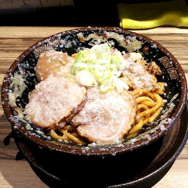 「爆盛油脂麺 (麺量300g)」@らーめん 平太周 味庵 西大島店の写真