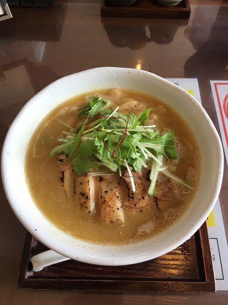 「濃厚鶏白湯麺 800円」@麺工房 かなでの写真