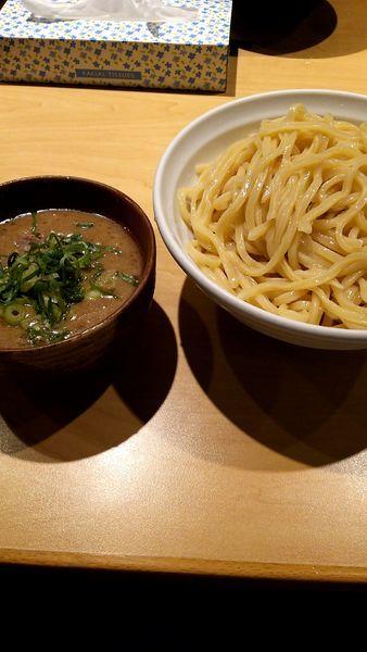 「限定・トンコツつけ麺(810円)・大盛り(100円)」@麺匠 克味の写真